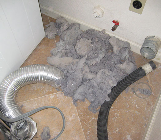 clean home dryer vents