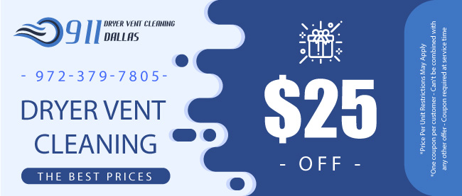 offer 911 dryer vent cleaning dallas